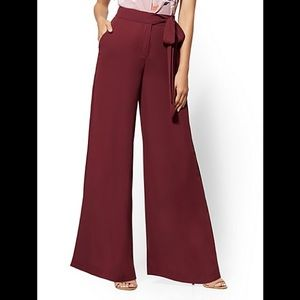 NY&C Side-Tie Palazzo Pant - NWT - 7th Ave - 14